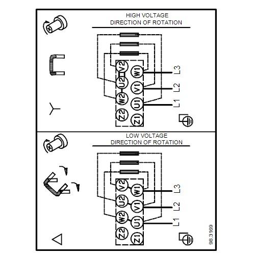 Схема подключений насосов NB 32-125.1/100 A-F-A-BAQE